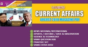 Vanik Current Affairs August 2018 Pdf