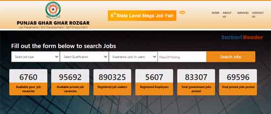 Punjab-Ghar-Ghar-Rozgar-job-search