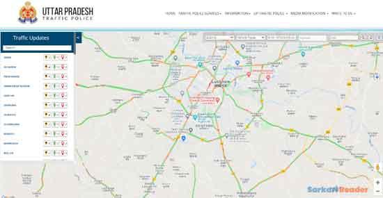 Uttar-Pradesh-e-ChallanTraffic-Police-Map