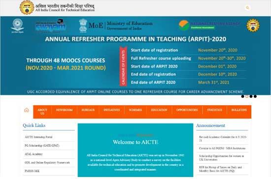 AICTE-PG-Scholarship-aicte-india.org-website