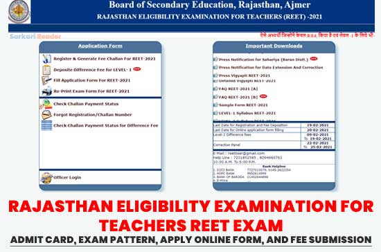 RAJASTHAN-ELIGIBILITY-EXAMINATION-FOR-TEACHERS-REET-Exam