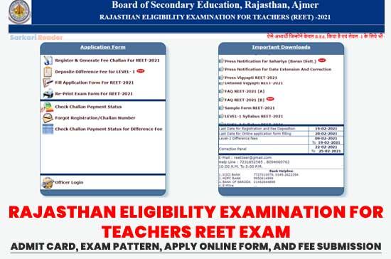RAJASTHAN-ELIGIBILITY-EXAMINATION-FOR-TEACHERS-REET-Exam