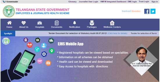 Telangana-Health-Card-Official-Website