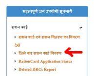 राशन कार्ड सूची राजस्थान