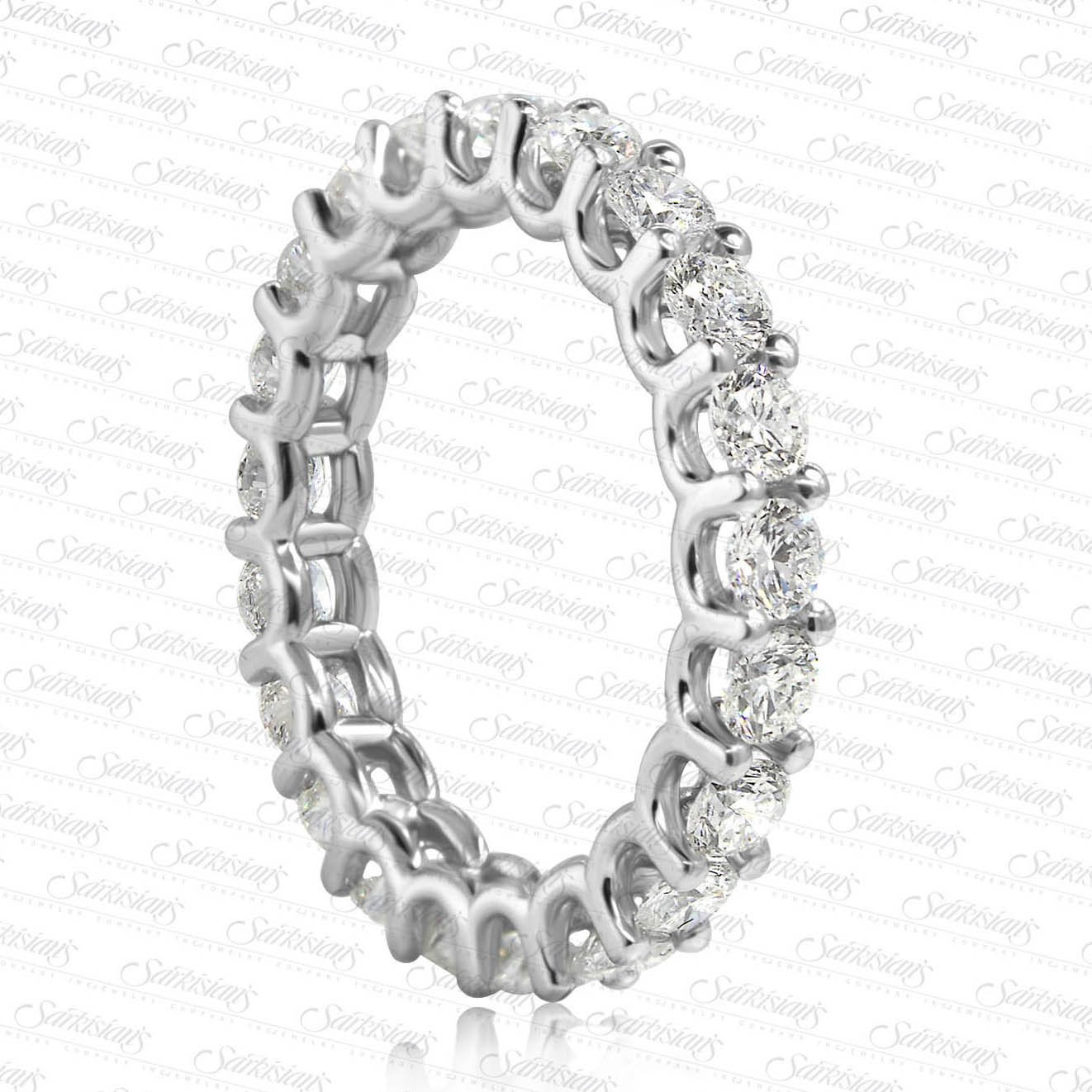 U Setting Diamond Eternity Ring 3 60 Carats Gold Or