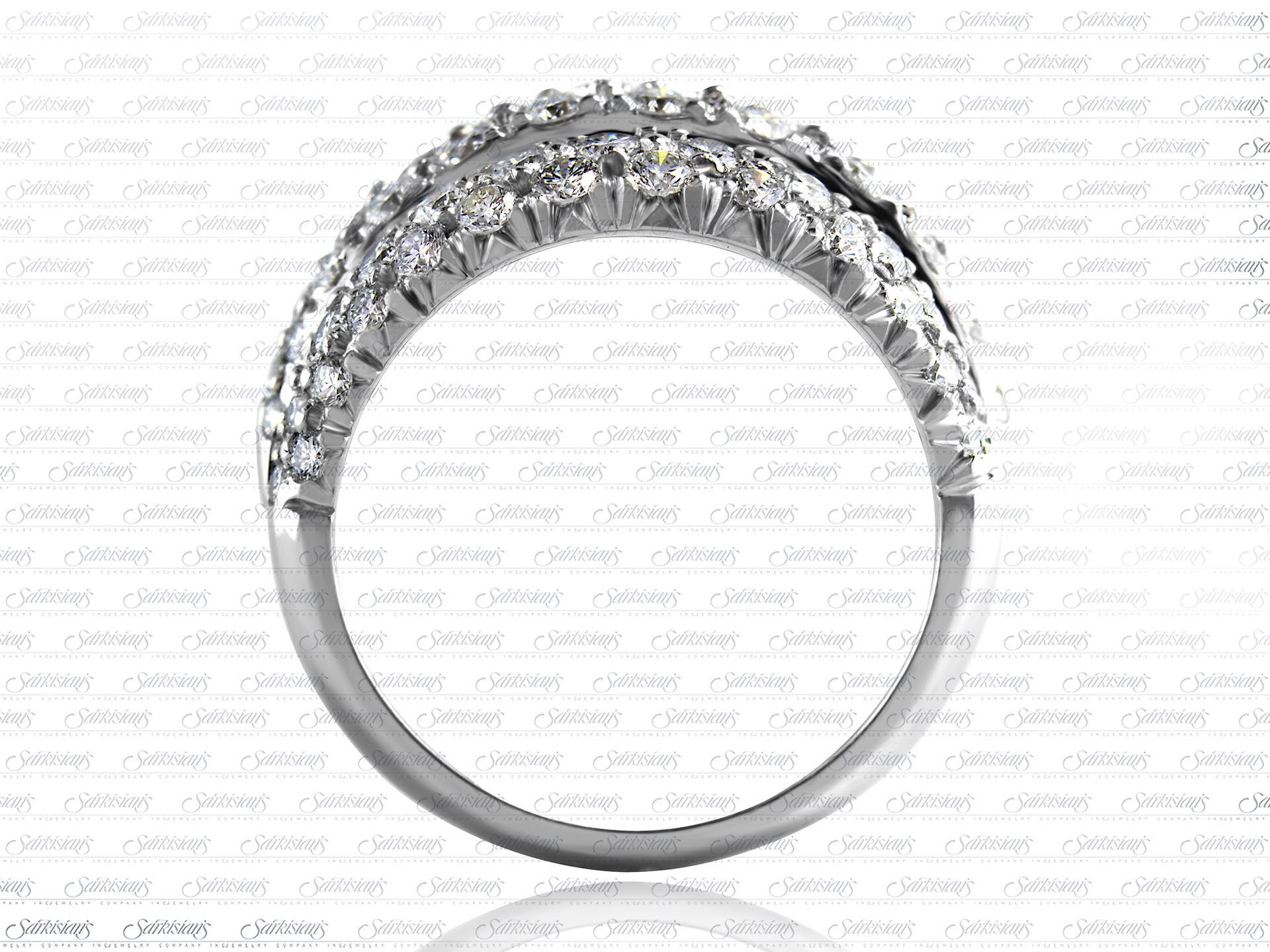 Three Tier Diamond Ring 2 02 Carats Gold Or Platinum