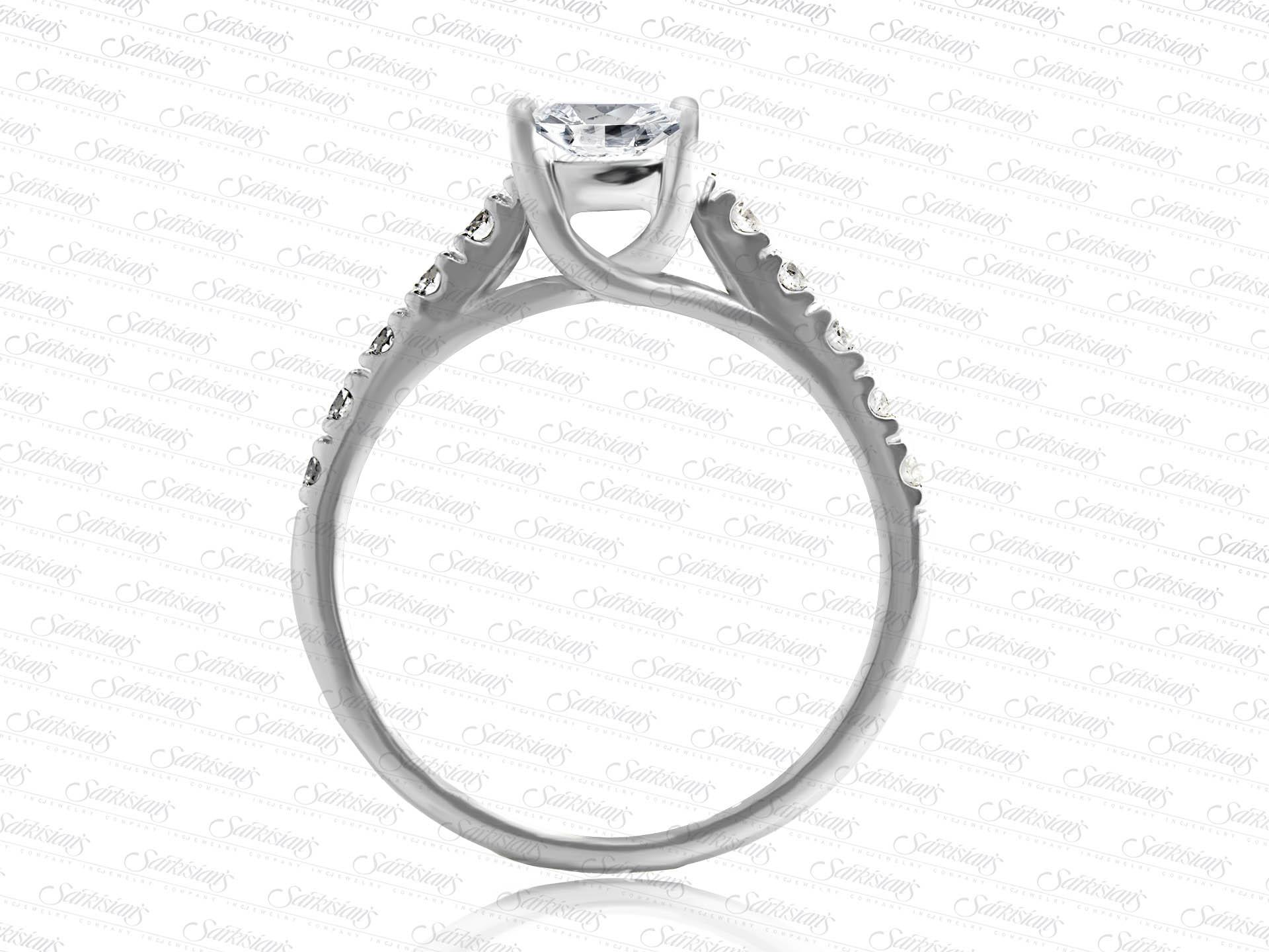 Trendy Diamond Engagement Ring Gold Or Platinum