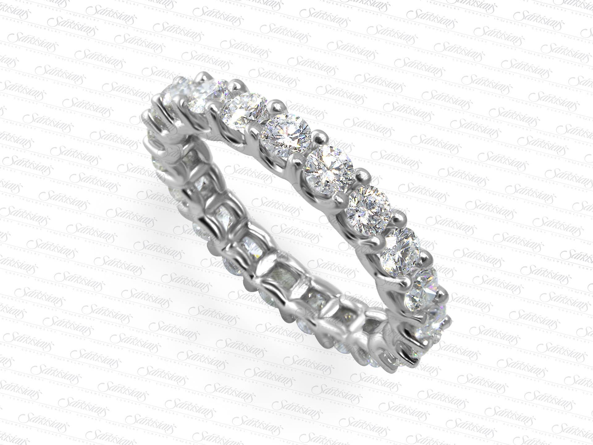 Diamond Eternity Ring 1 93 Carats Gold Or Platinum