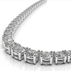 4 prong graduated diamond necklace-3