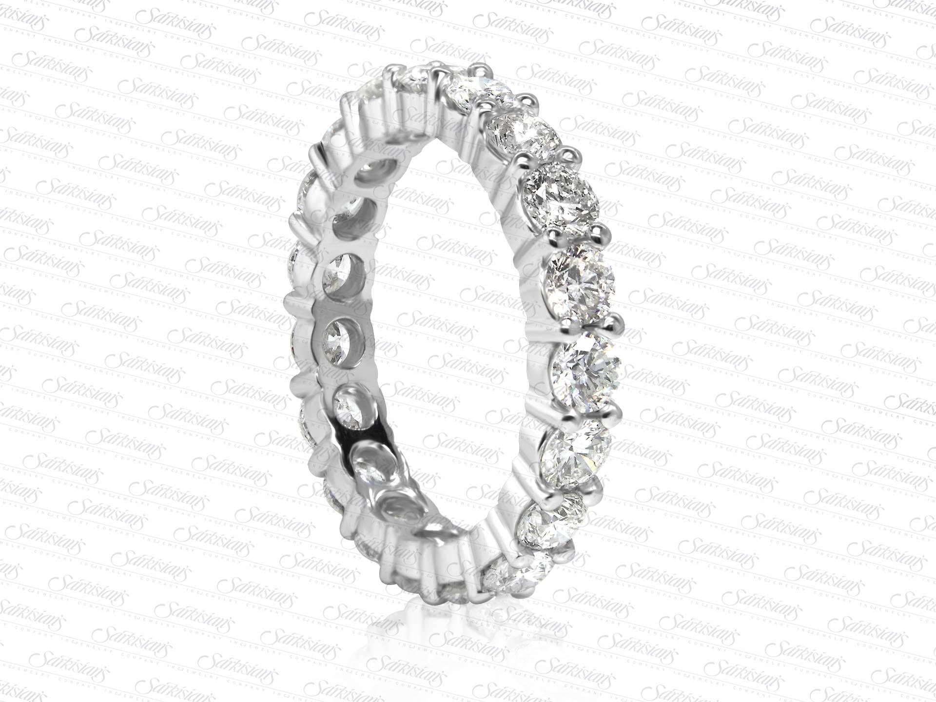 Diamond Eternity Ring 2 54 Carats Gold Or Platinum