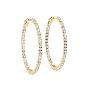 Diamonds Hoop Earrings