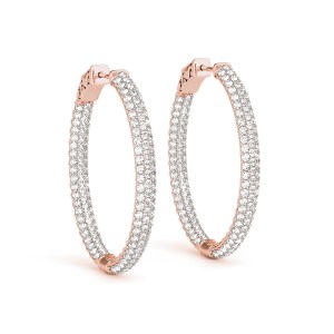 DIamonds Hoop Oval Earrings er41023-7-41