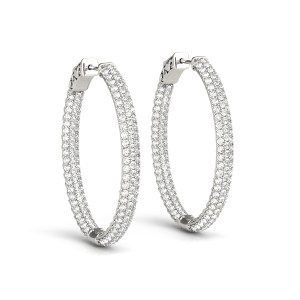 DIamonds Hoop Oval Earrings er41023