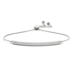 Two Row Adjustable DIamond Bangle Bracelet br70570