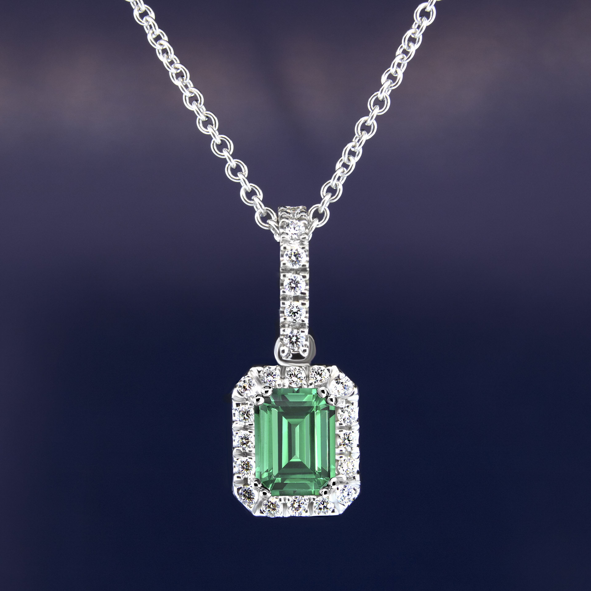 necklace products diamond emerald pendant princess natural yellow gold
