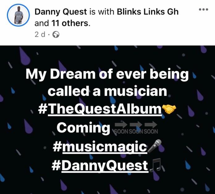 Danny Quest Hints At Releasing A New Album