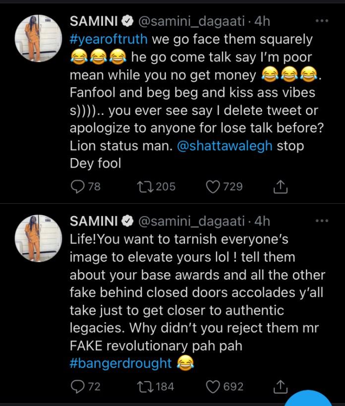 Samini Describes Shatta Wale As A Fake Revolutionary And Tells Him To Stop De Fool