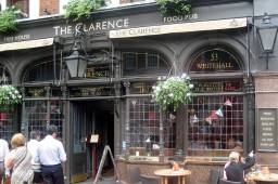 THE CLARENCE, 53 WHITEHALL, famous since 1862