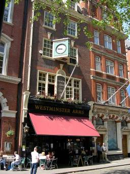 WESTMINSTER ARMS - 9-10 STOREYS GATE, near Houses of Parliament