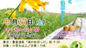 【案内】 6/27(土) 初夏のサロベツ湿原ツアー を開催します
