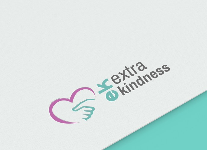 Logo designed by Sarrie Creatives for EK Extra Kindness