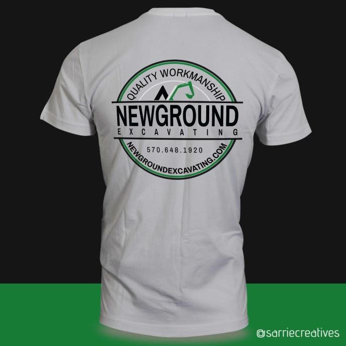 New Ground Excavating Shirt Back Design