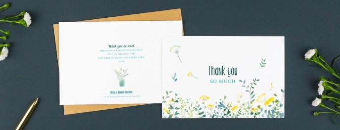 Thank You Business Card Alternative