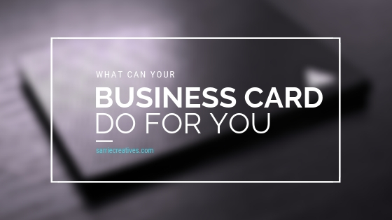 What Can Your Business Card Do For You?