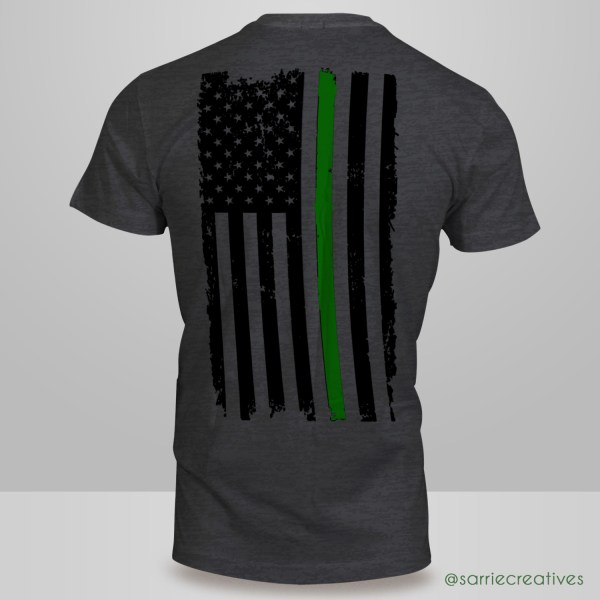 American Flag Irish Pride T-Shirt Back