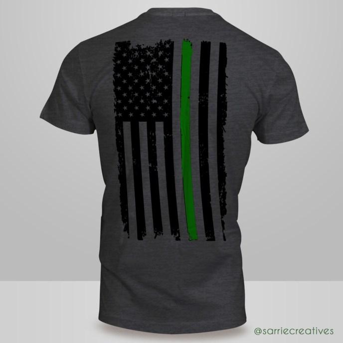American Flag Irish Pride T-Shirt Back
