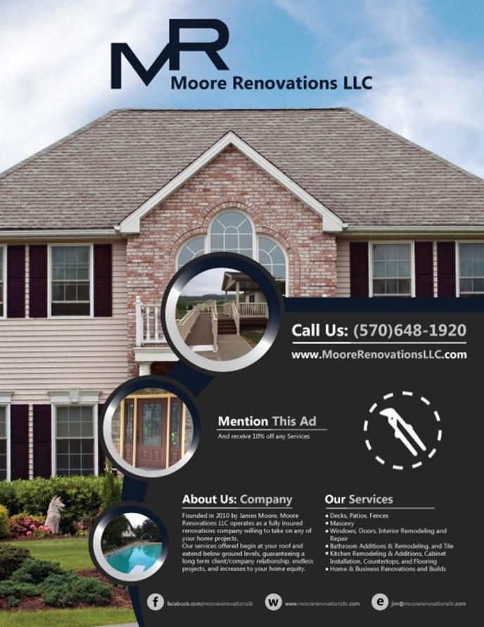Moore Renovations Flyer Design