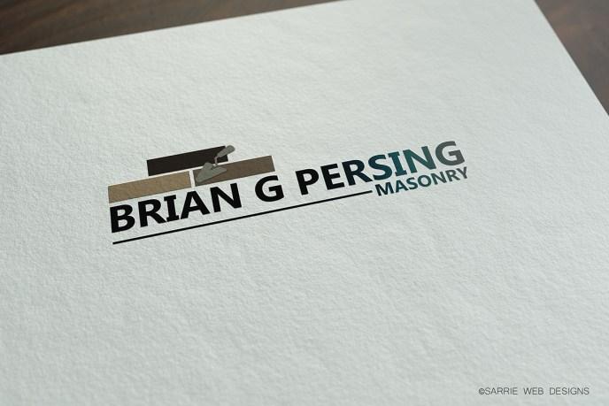 Brian G Persing Masonry's logo design