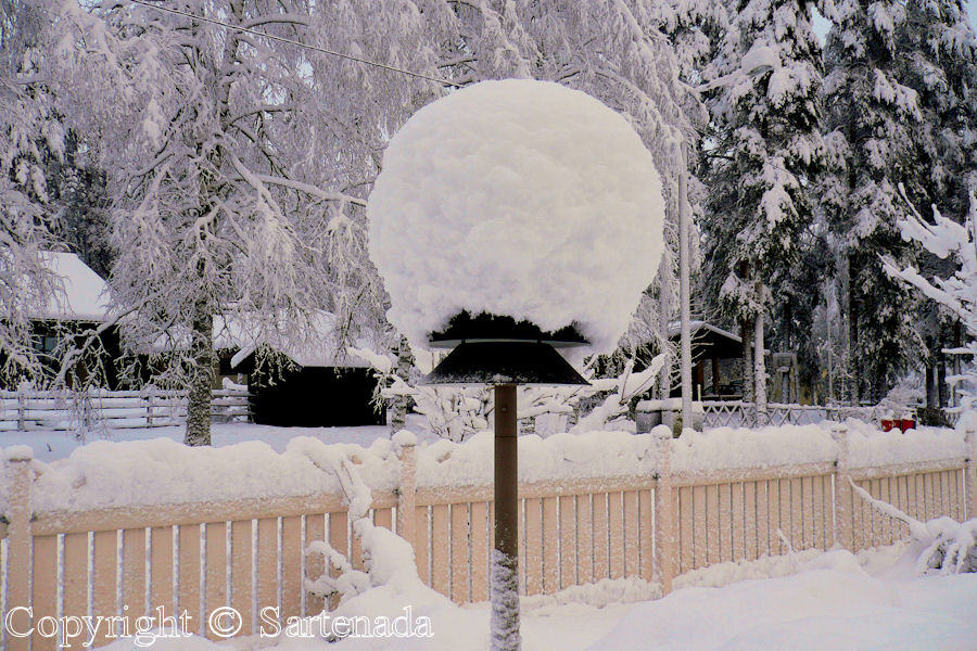 Garden lamp or Snow hat?
