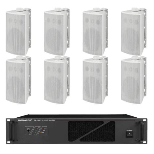 Impianti audio da esterno di medie dimensioni