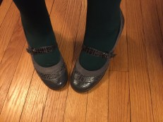 green tights: Target, Mary Janes: ?