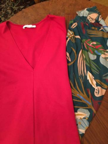 BOLD red and print shirts from Zara