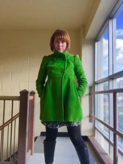 Short dress. Cute jacket.