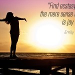 Empezando la semana 25 con alegría: Éxtasis