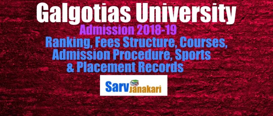 galgotias university admission 2018