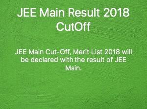 jee main cutoff 2018
