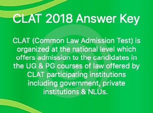 CLAT 2018 ANSWER KEY