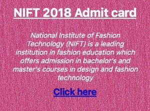 nift 2018 admit card