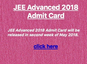 jee advanced 2018 admit card