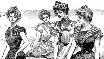 """Las """"chicas Gibson"""" en la playa"""