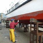 船底塗料~遊覧船準備作業