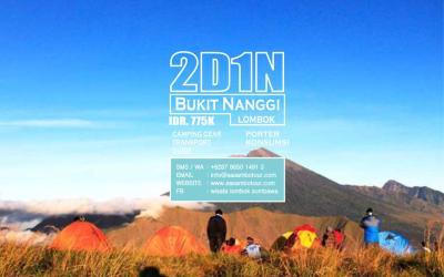 Paket Wisata Bukit Nanggi 2D1N