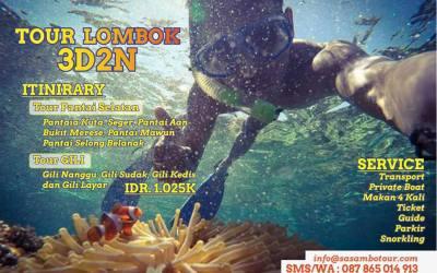 Paket Wisata Lombok 3D2N (A)