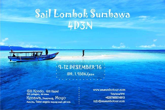 Open Trip Sail Lombok Sumbawa 4D3N