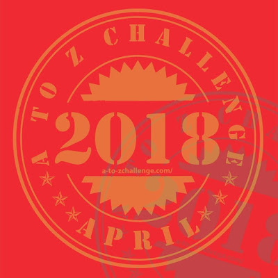 2018 #AtoZchallenge participation badge