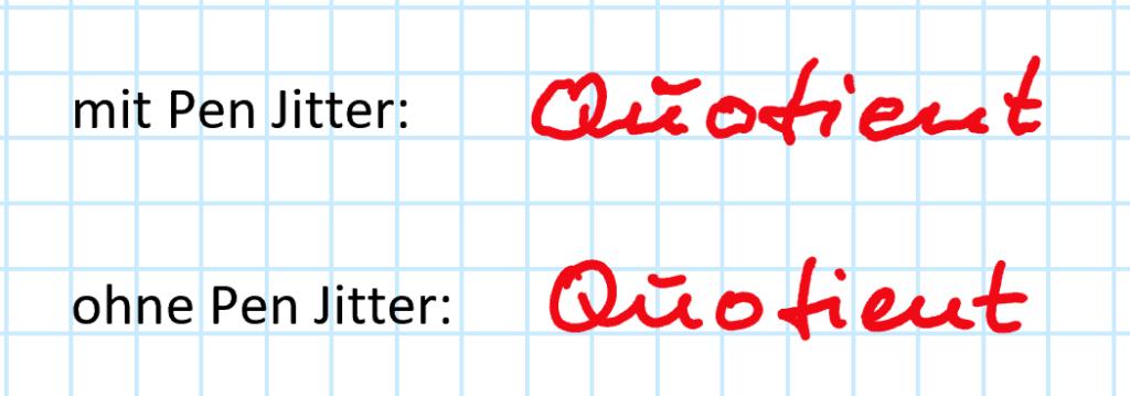 Pen Jitter beim Schreiben auf meinem Surface Book 2